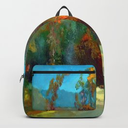Smoke in the forest Backpack