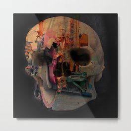 Skull machine Metal Print