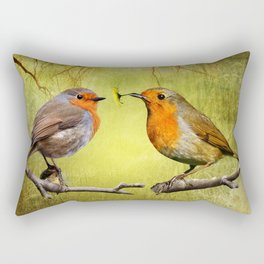 Robin Presents Rectangular Pillow
