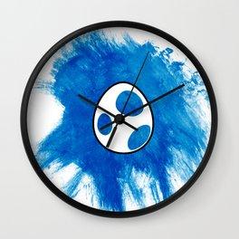 Yoshi Egg - Blue Wall Clock