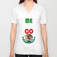 mexico V-neck T-shirts featuring Mexico  by RDsix3