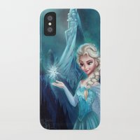 frozen elsa iPhone & iPod Cases featuring Elsa Frozen by This Is Niniel Illustrator