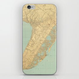 Vintage Map of Cape May NJ (1888) iPhone Skin