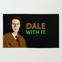 dale cooper Area & Throw Rugs featuring DALE WITH IT. by Chris Piascik