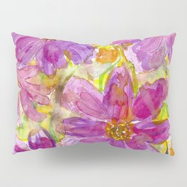 Watercolor Wildflowers Pillow Sham