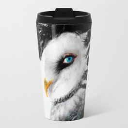 Tattooed Lady Owl Travel Mug