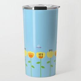 Yellow Flowers Garden Travel Mug