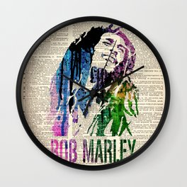 ONE LOVE - on dictionary page Wall Clock