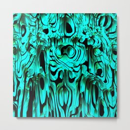Colorful smudges of magical infinity from light blue lines and dark hypnotic fixation. Metal Print