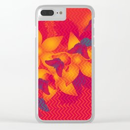Radioactive butterflies Clear iPhone Case