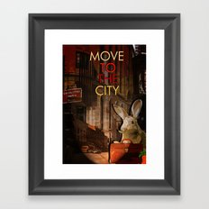 Move to the city Framed Art Print