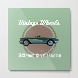 Vintage Wheels - '58 Chevrolet Metal Print