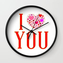 I Love You In Red Wall Clock