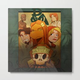 """Temple of Gloom"" - Moss Version - Dungeons & Doritos Metal Print"