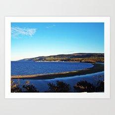 Cove Sandbar and River Art Print