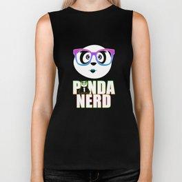 Panda Nerd Girl - Rainbow Biker Tank
