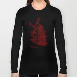 Old Holland windmill Long Sleeve T-shirt