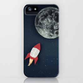 Rocket to the Moon iPhone Case