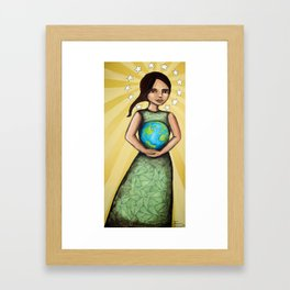 Our Lady of the Earth Framed Art Print