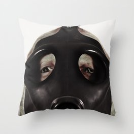 Mustard Gas Mechanic Throw Pillow
