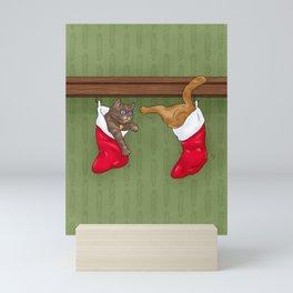 Merry Cat-Mas Mini Art Print