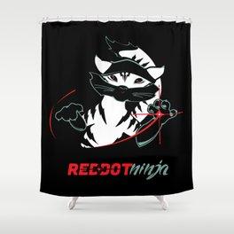 Red Dot Ninja (revised) Shower Curtain