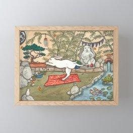 Yoga Bunny Framed Mini Art Print