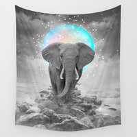courage Wall Tapestries featuring Strength & Courage (Stand Alone) by soaring anchor designs