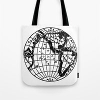 globe Tote Bags featuring Globe by Gallymogger Print