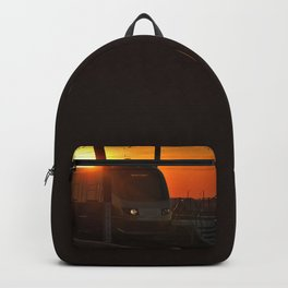 Train at sunset Backpack