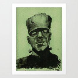 Frankentein's Monster Art Print