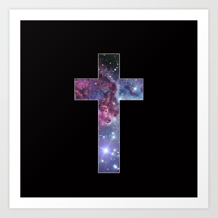 Galaxy Cross Art Print