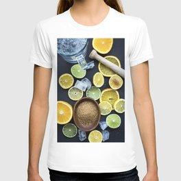 Preparing citruses for lemonade T-shirt