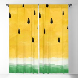Yellow Watermelon Abstract Blackout Curtain