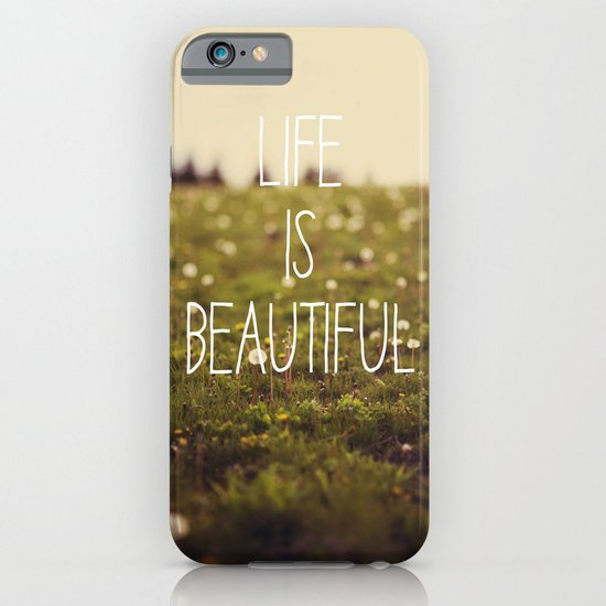 Life is Beautiful (Dandelion) iPhone & iPod Case
