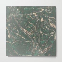 Adrift - Abstract Suminagashi Marble Series - 03 Metal Print