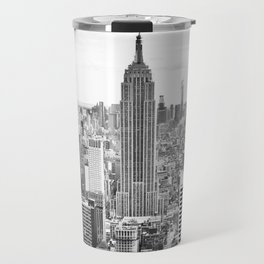 New York City, Manhattan (Black & White) Travel Mug