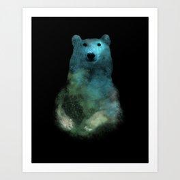 Nebula Bear Art Print