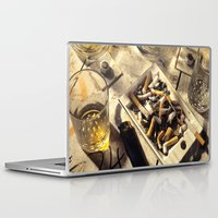 wallet Laptop & iPad Skins featuring The day after a night out by Bruce Stanfield