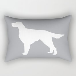 Irish Setter dog silhouette minimal dog breed portrait gifts for dog lover Rectangular Pillow