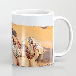 Close-up on Camel in Oman desert Coffee Mug