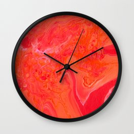 Paint Pouring 3 Wall Clock