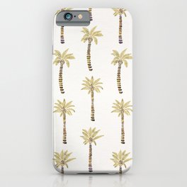 Mediterranean Palm Trees – Gold Palette iPhone Case