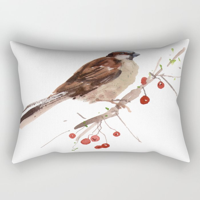 Cute sparrow Rectangular Pillow