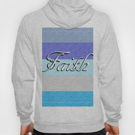 FAITH on Blue Hoody