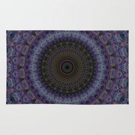 Mandala in blue and violet Rug