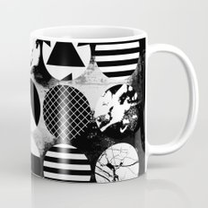 Eclectic Circles - Black and white, abstract, geometric, textured designs Mug