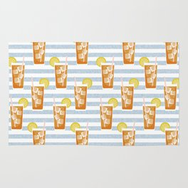ice sweet tea summer southern stripes food fight apparel and gifts Rug