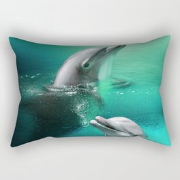 Dolphin Delights Rectangular Pillow