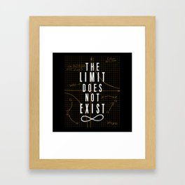 The Limit Does Not Exist Framed Art Print